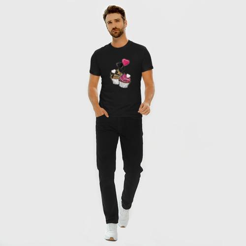 Мужская футболка премиум с принтом Кексики, вид сбоку #3