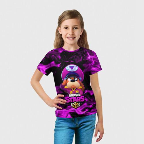 Детская 3D футболка с принтом ГЕНЕРАЛ ГАВС - Brawl Stars, вид сбоку #3