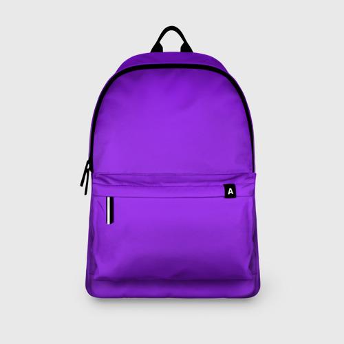 Рюкзак 3D с принтом Фиолетовый, вид сбоку #3