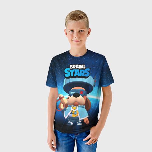 Детская 3D футболка с принтом Генерал Гавс brawl stars, фото на моделе #1