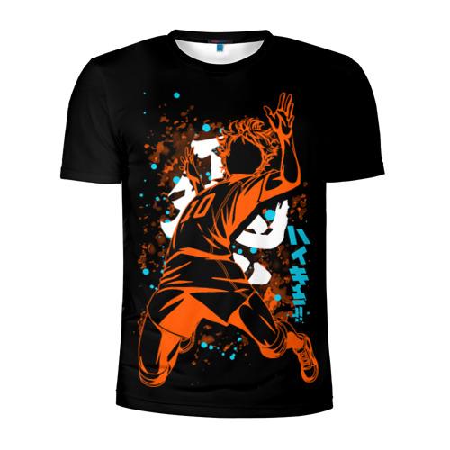 Мужская футболка 3D спортивная Атакующий силуэт Сёё Хинаты из аниме HAIKYUU!!