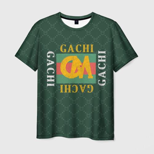 Мужская 3D футболка с принтом GACHI бренд, вид спереди #2