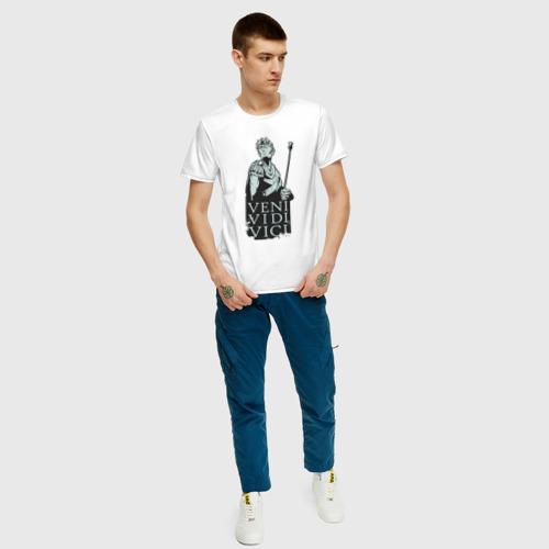 Мужская футболка с принтом Цезарь - Veni Vidi Vici, вид сбоку #3