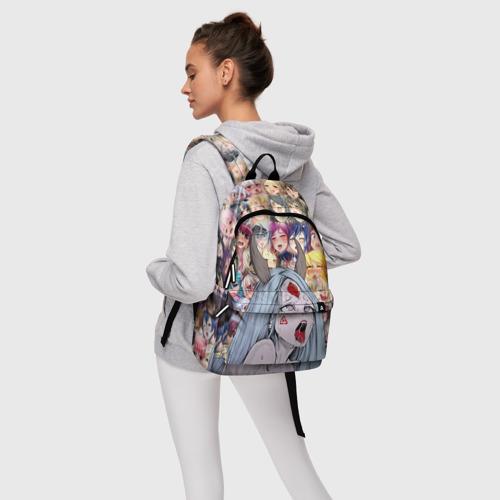 Рюкзак 3D с принтом KAGUYA AHEGAO | КАГУЯ АХЕГАО, фото #4