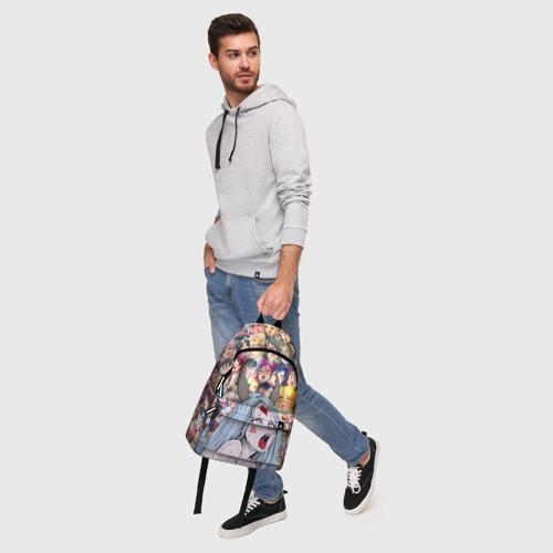 Рюкзак 3D с принтом KAGUYA AHEGAO | КАГУЯ АХЕГАО, фото #5