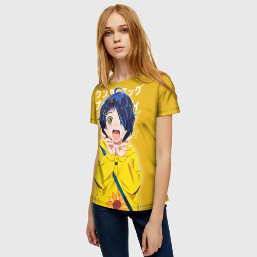 Женская 3D футболка с принтом Ohto ai, фото на моделе #1
