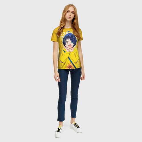 Женская 3D футболка с принтом Ohto ai, вид сбоку #3