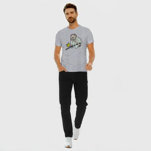 Мужская футболка премиум с принтом ИНОСКЕ ИЗ КЛИНКА, вид сбоку #3