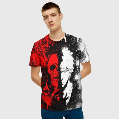 Мужская 3D футболка с принтом ИЧИГО БЛИЧ   ICHIGO BLEACH, фото на моделе #1