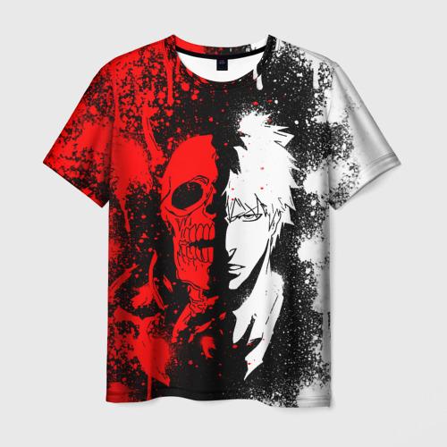 Мужская 3D футболка с принтом ИЧИГО БЛИЧ   ICHIGO BLEACH, вид спереди #2