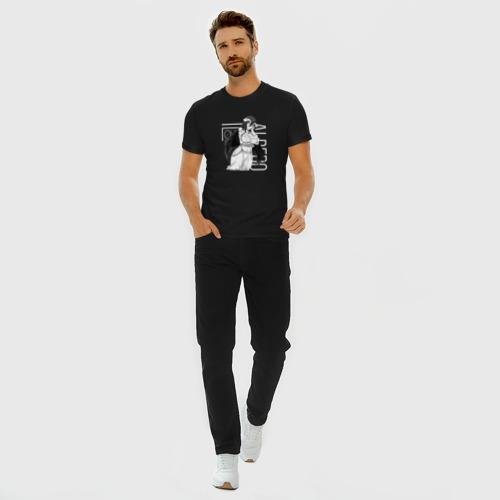 Мужская футболка премиум с принтом Альбедо Оверлорд, вид сбоку #3