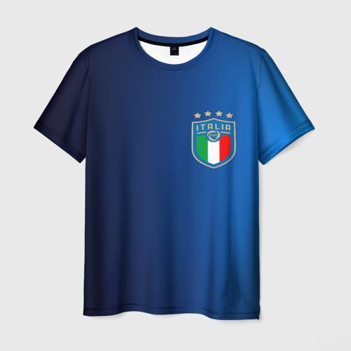 Мужская 3D футболка с принтом Сборная Италии, вид спереди #2