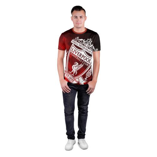 Мужская футболка 3D спортивная с принтом LIVERPOOL / ЛИВЕРПУЛЬ, вид сбоку #3