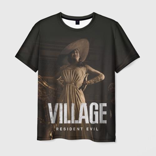Мужская 3D футболка с принтом RESIDENT EVIL VILLAGE, вид спереди #2
