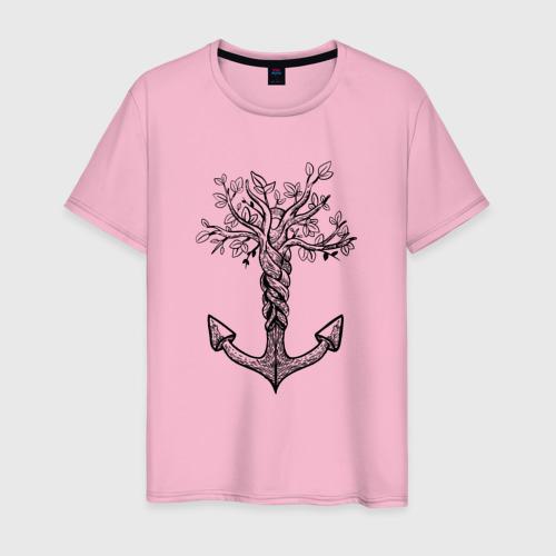 Мужская футболка Славянский якорь в виде дерева