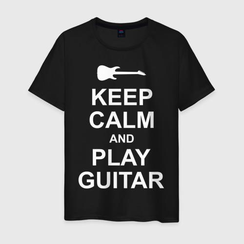 Мужская футболка с принтом PLAY GUITAR, вид спереди #2
