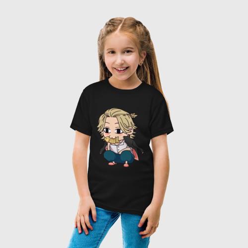 Детская футболка с принтом Микки Мандзиро   ЧИБИ, вид сбоку #3