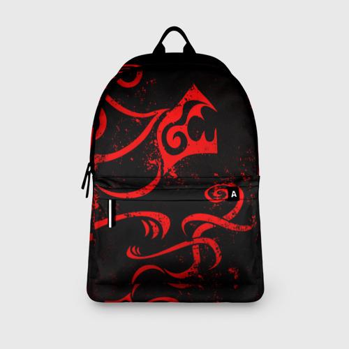 Рюкзак 3D с принтом ТАТУИРОВКА ДРАКЕНА, вид сбоку #3