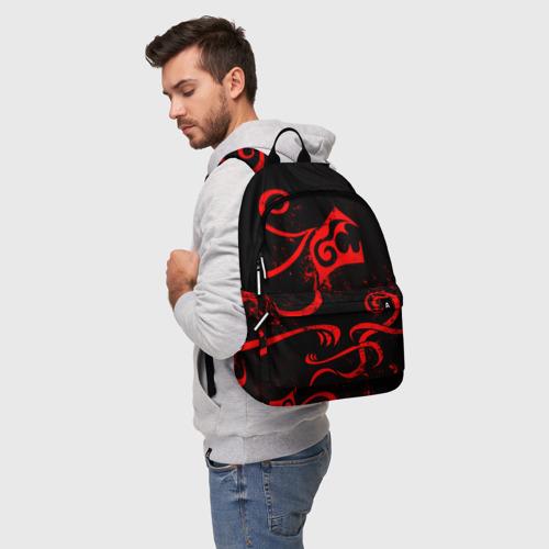 Рюкзак 3D с принтом ТАТУИРОВКА ДРАКЕНА, фото на моделе #1