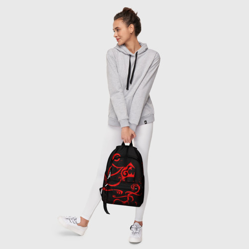 Рюкзак 3D с принтом ТАТУИРОВКА ДРАКЕНА, фото #6