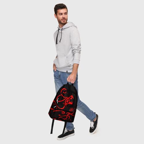 Рюкзак 3D с принтом ТАТУИРОВКА ДРАКЕНА, фото #5