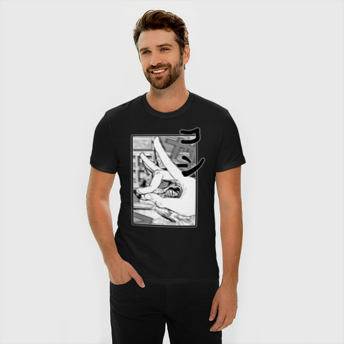 Мужская футболка премиум с принтом Chainsaw man  Kon, фото на моделе #1