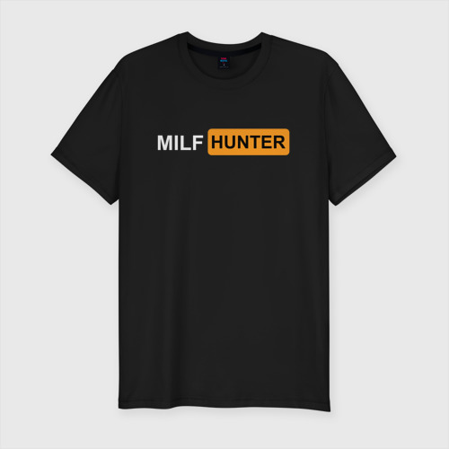 Мужская футболка премиум с принтом MILF HUNTER / МИЛФ ОХОТНИК, вид спереди #2