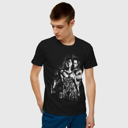Мужская футболка с принтом The lost of ass SF, фото на моделе #1