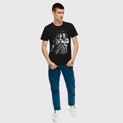 Мужская футболка с принтом The lost of ass SF, вид сбоку #3