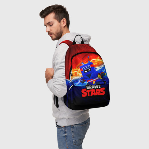 Рюкзак 3D с принтом ЭШ НИНДЗЯ Ash Brawl Stars, фото на моделе #1