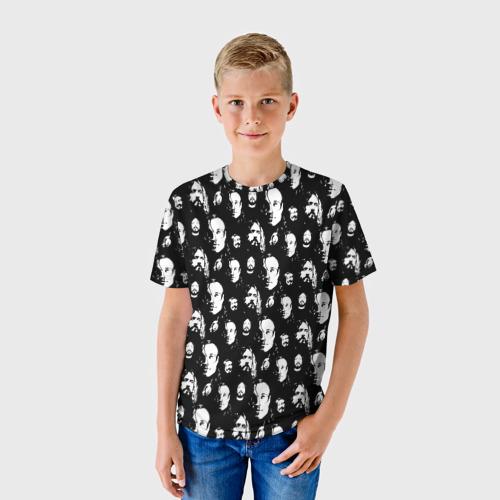 Детская 3D футболка с принтом Гроб паттерн, фото на моделе #1