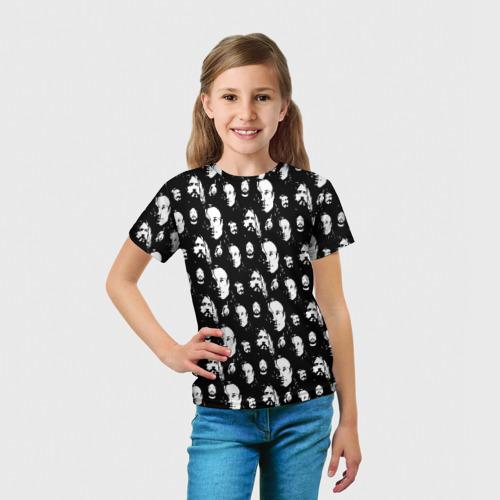 Детская 3D футболка с принтом Гроб паттерн, вид сбоку #3