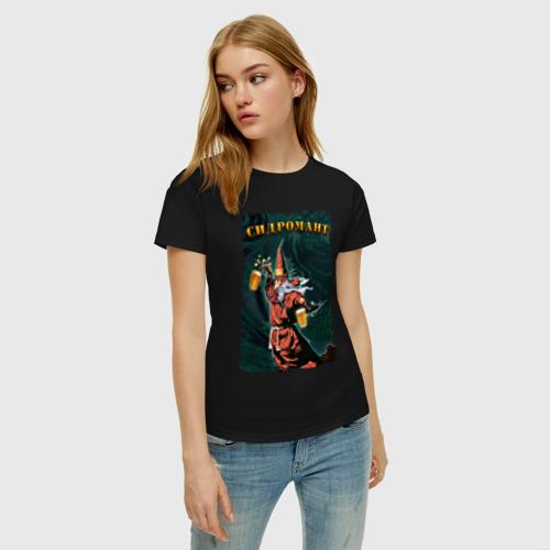 Женская футболка с принтом Сидромант, фото на моделе #1