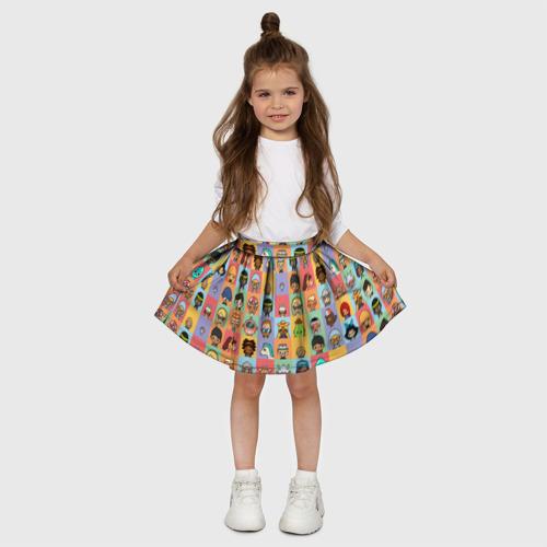 Детская юбка-солнце 3D с принтом Toca Life Worl, вид сбоку #3